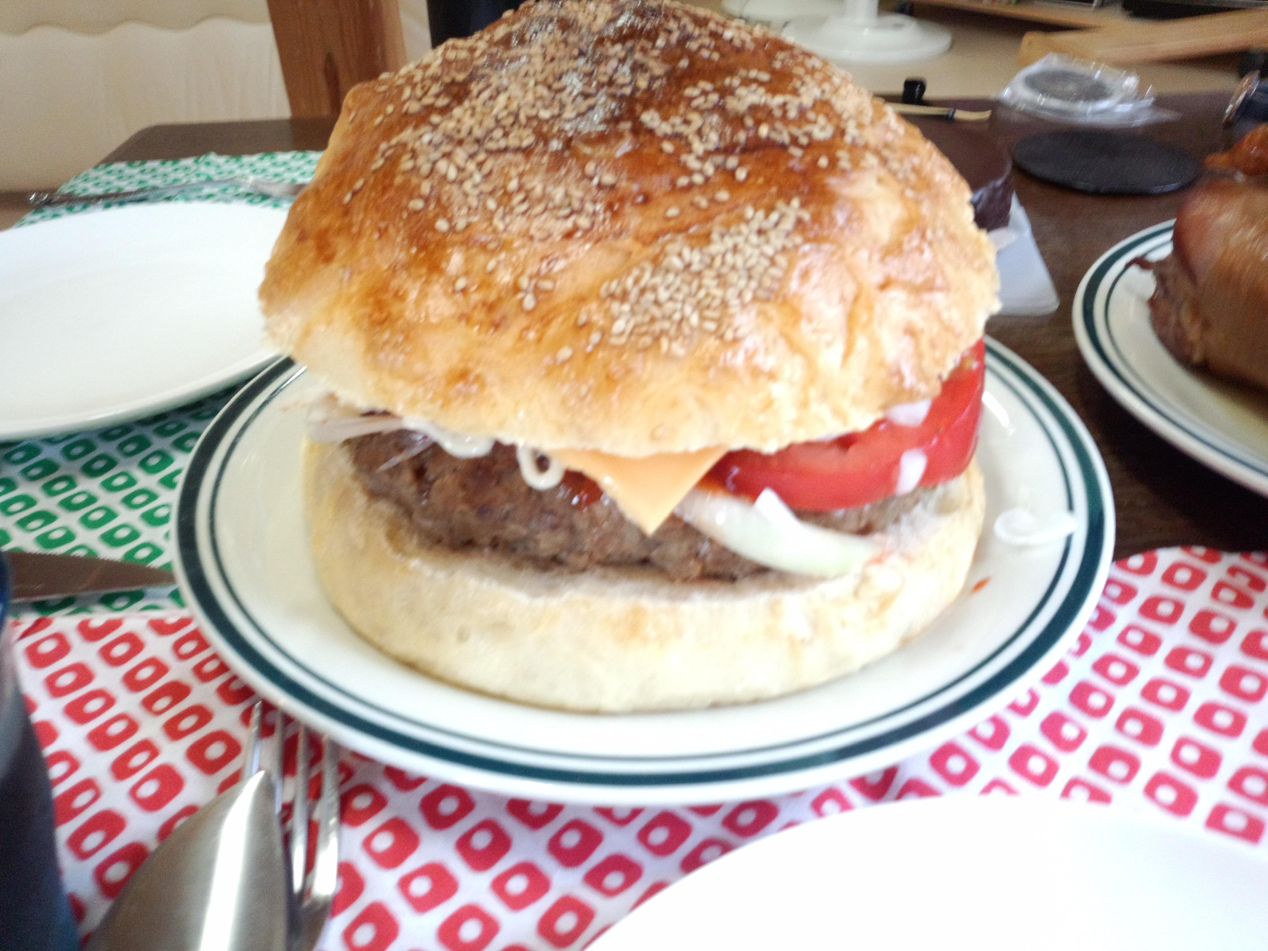 巨大ハンバーガーのレシピ☆