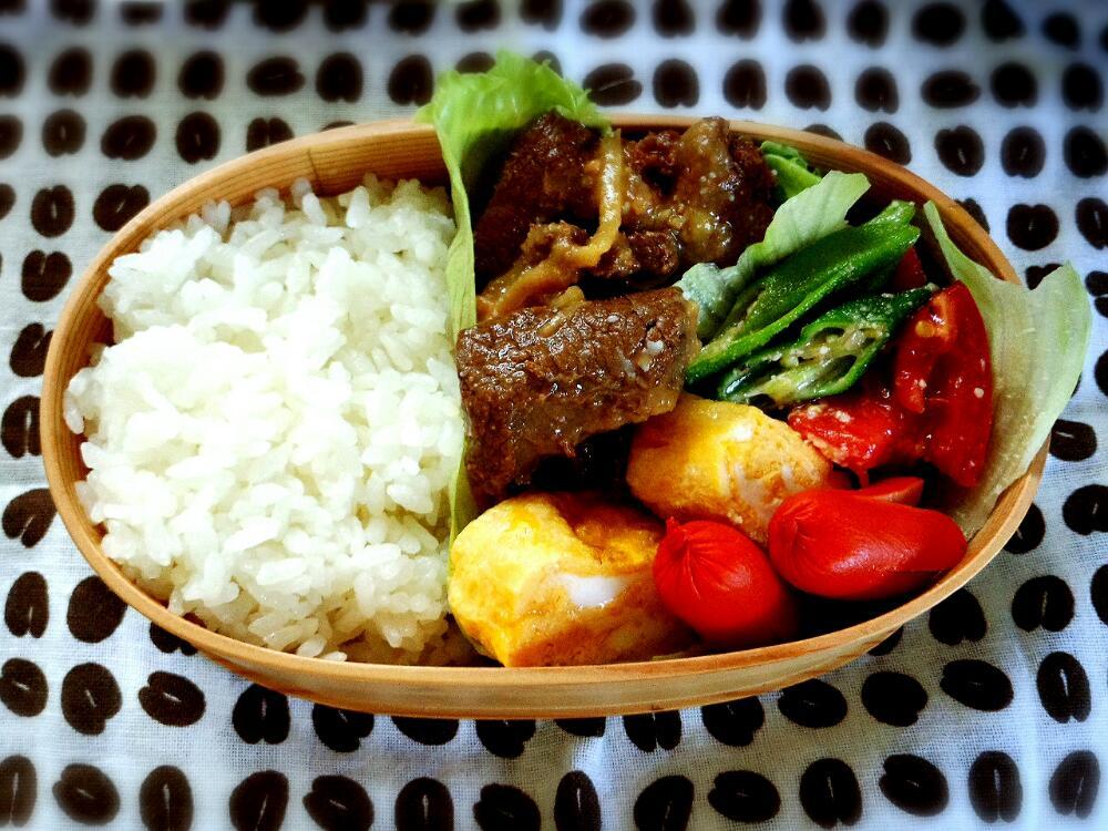 きょうのおべんとう「鹿肉の味噌煮」