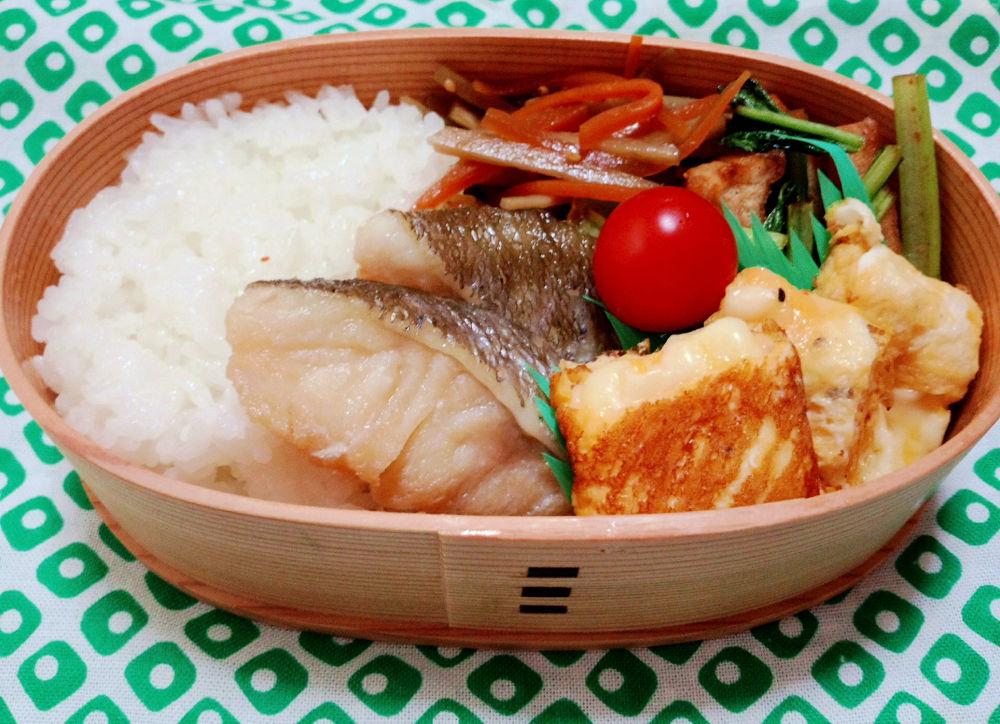きょうのおべんとう「鱈の煮付け」