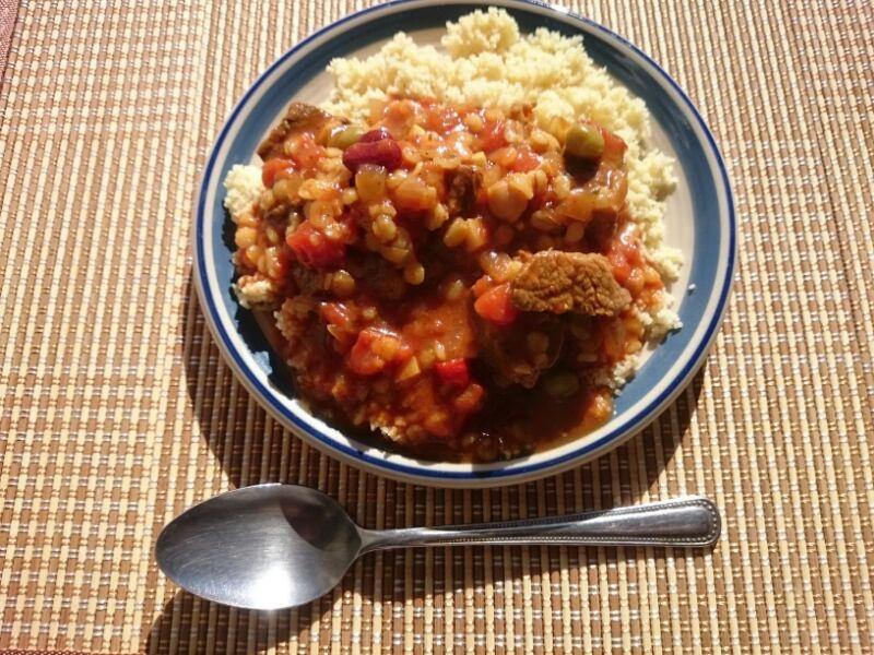 きょうのおひる「モロッコ料理 ハリラ(風なにか)」