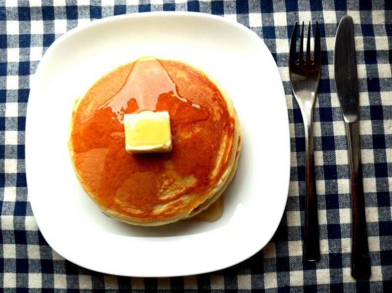きょうのおひる「ホットケーキ」