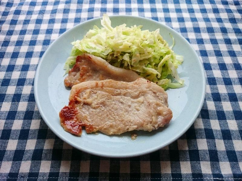 きょうのおひる「豚肉の塩麹焼き」