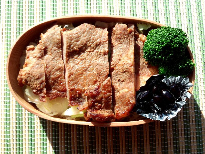 きょうのおべんとう「絶品!高座豚の味噌漬け」