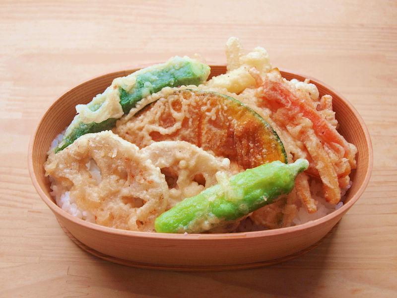 きょうのおべんとう「野菜天丼」
