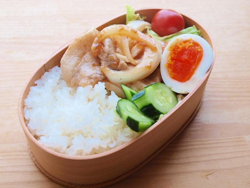 きょうのおべんとう「生姜焼き弁当」