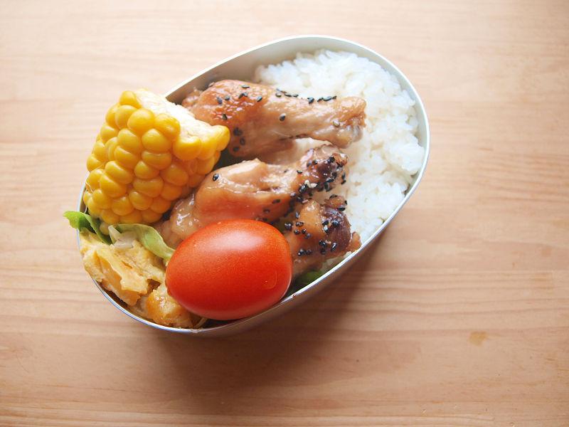きょうのおべんとう「手羽元の甘辛煮」