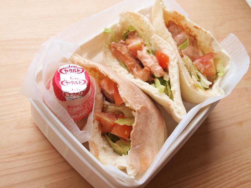 きょうのおべんとう「ケバブ風サンドイッチ」