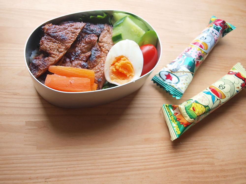 きょうのおべんとう「味噌トンテキ弁当」