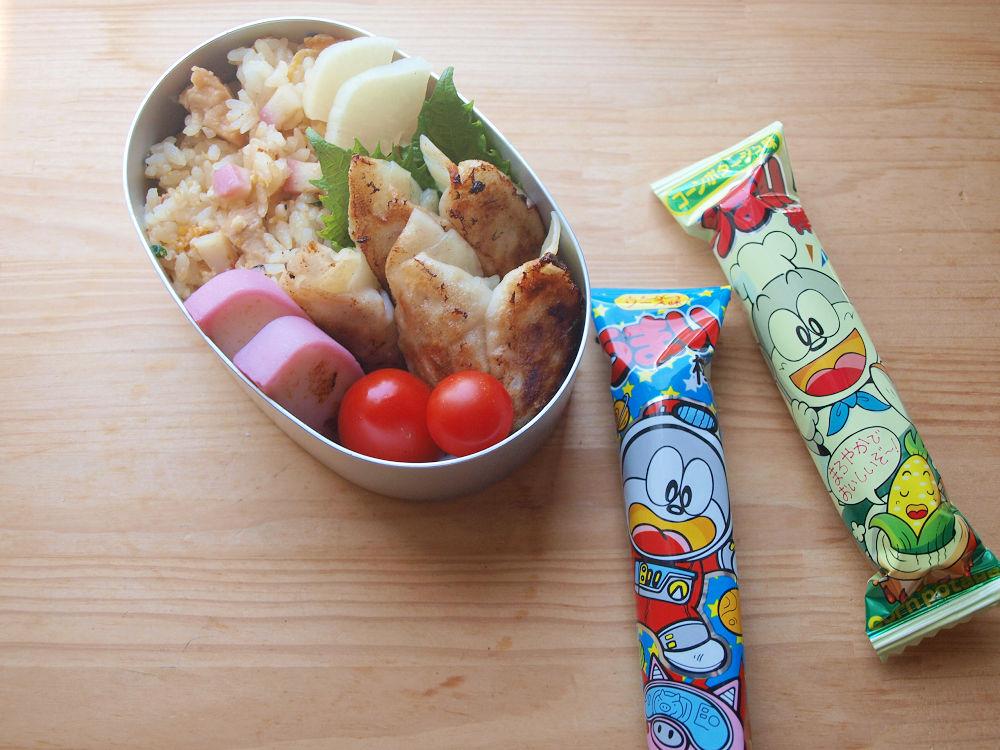 きょうのおべんとう「餃子チャーハン弁当」