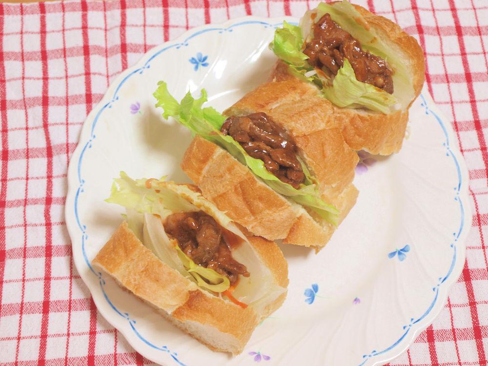 きょうのおひる「ラム肉のサンドイッチ」