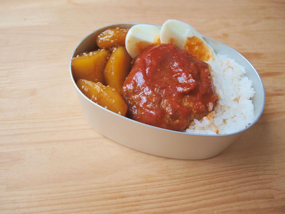 きょうのおべんとう「トマトハンバーグ」