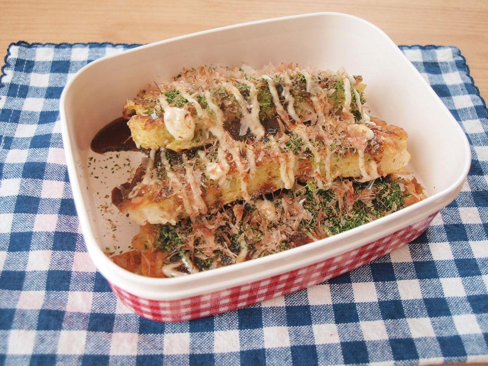 きょうのおべんとう「豆腐入りお好み焼き」