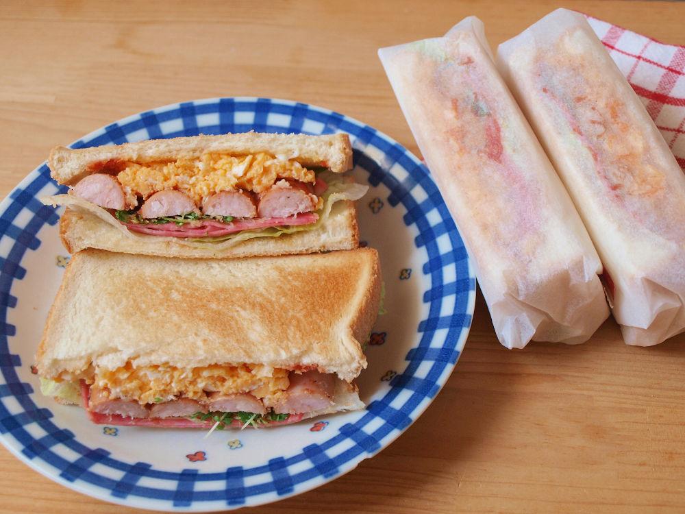 きょうのおべんとう「ソーセージサンドイッチ」