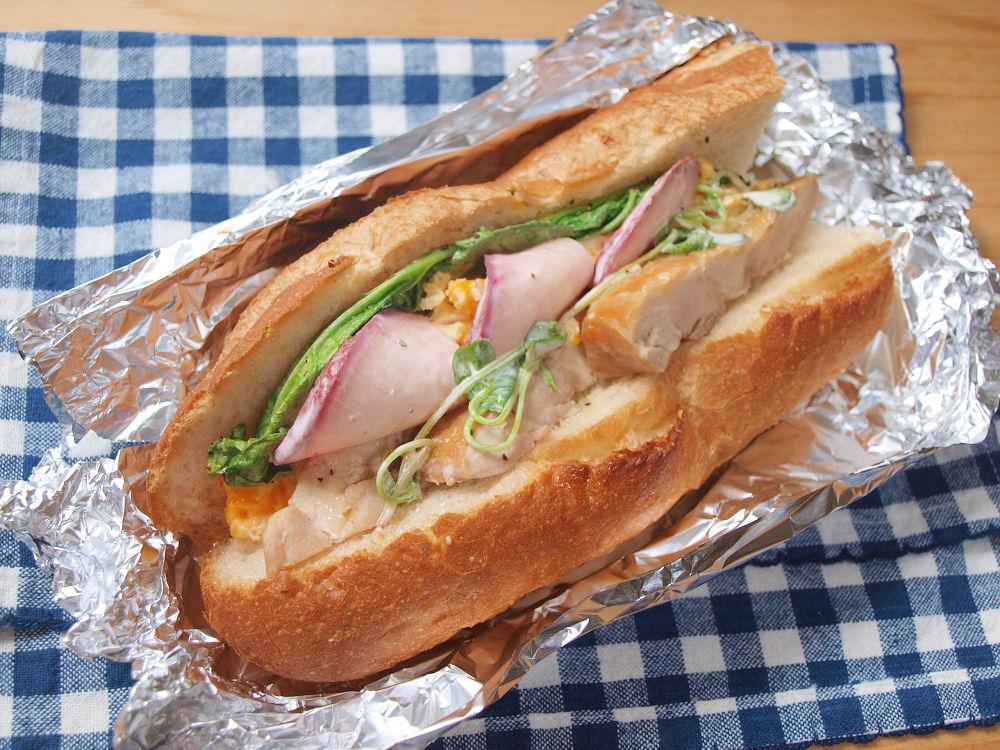 きょうのおべんとう「チキンサンドイッチ」