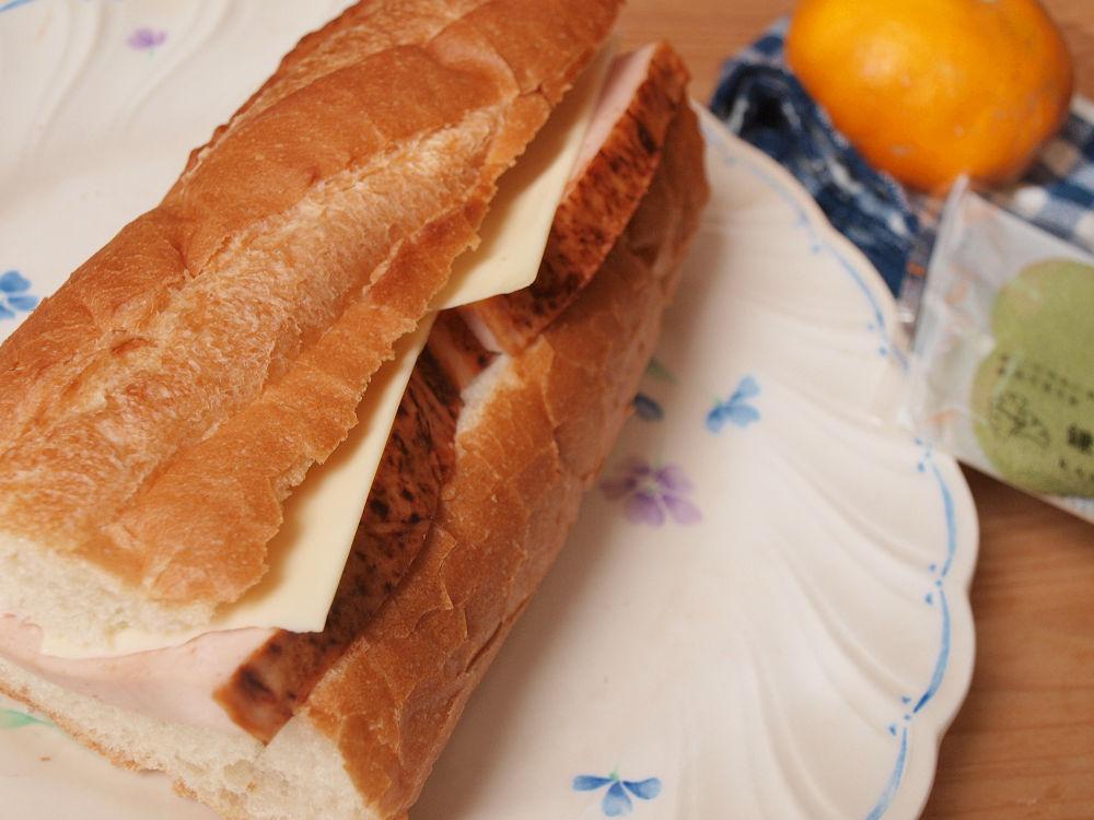 きょうのおべんとう「ドイツハムサンドイッチ」