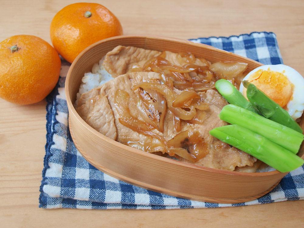きょうのおべんとう「甘辛豚肉炒め」