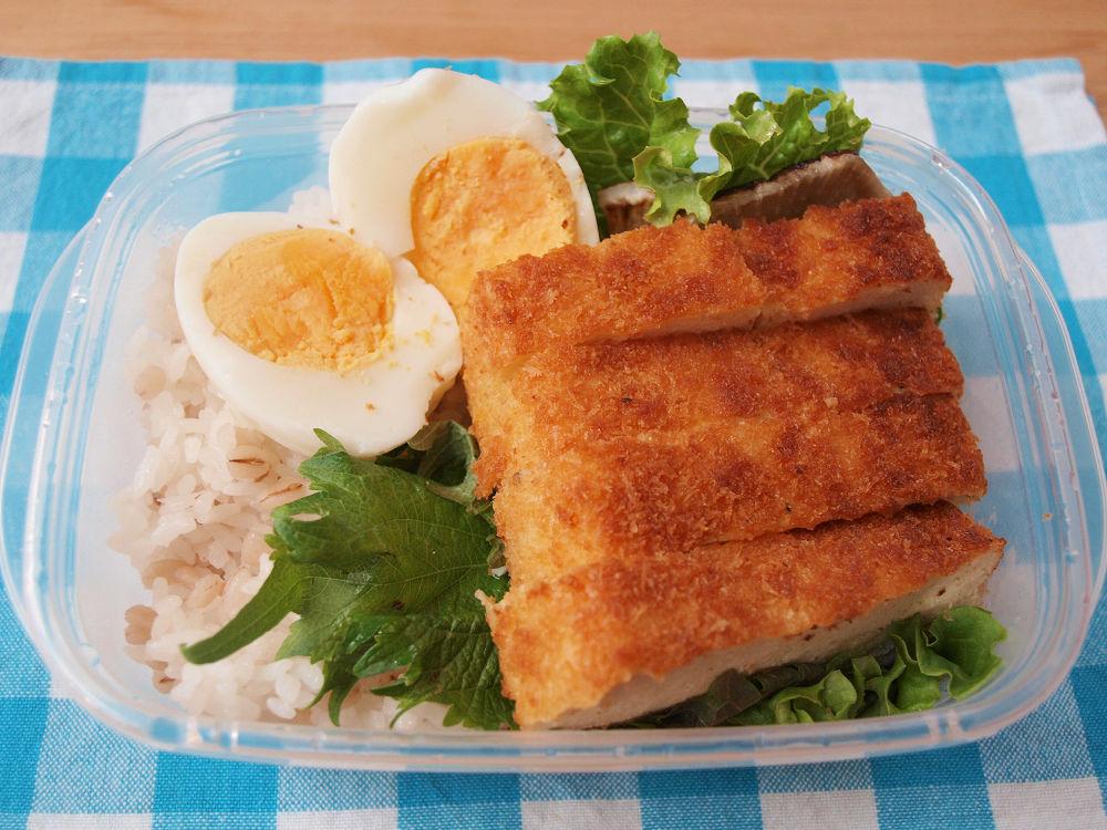 きょうのおべんとう「豆腐カツ弁当」