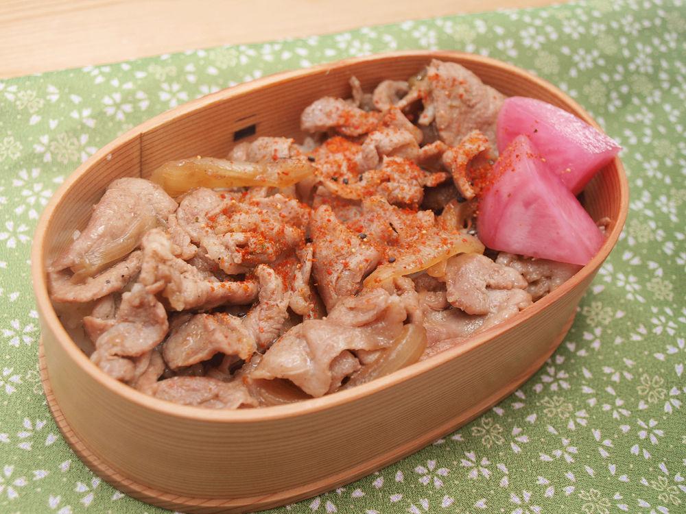 きょうのおべんとう「豚丼」