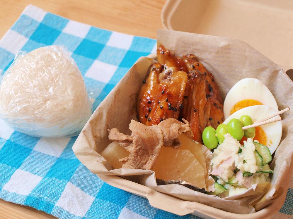 きょうのおべんとう「鶏手羽の甘辛煮」