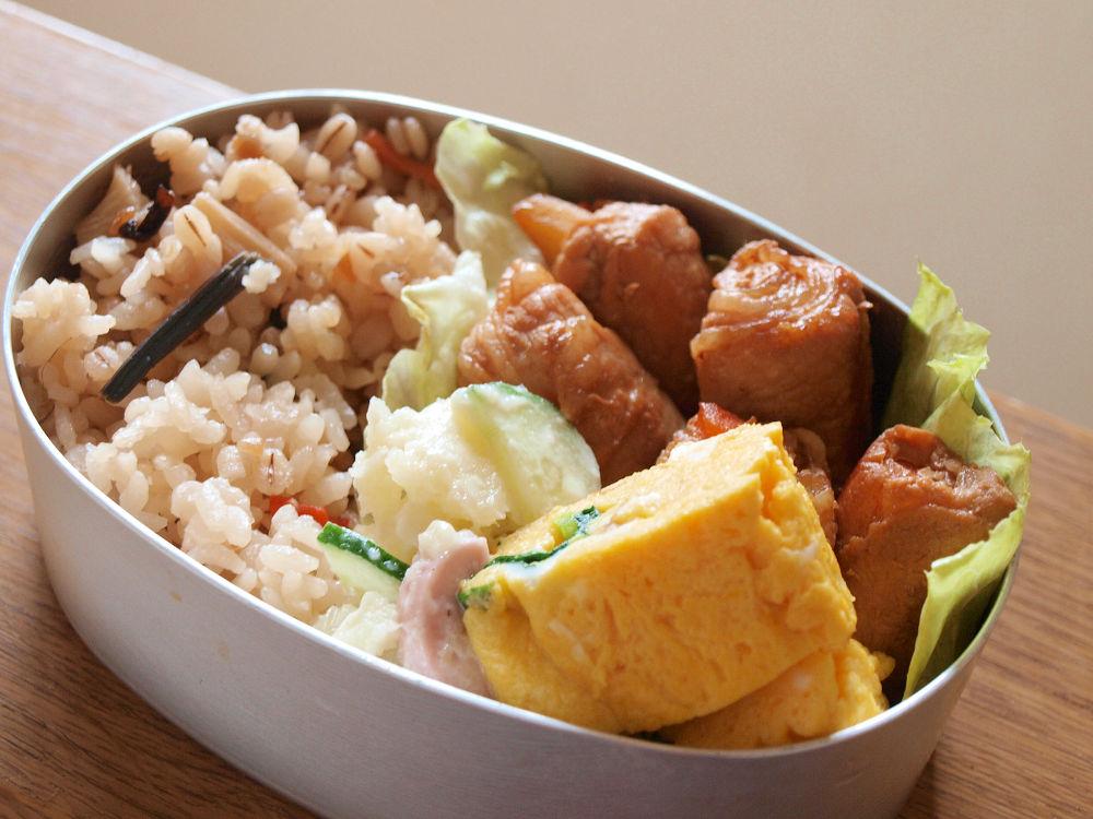 きょうのおべんとう「野菜肉巻き弁当」