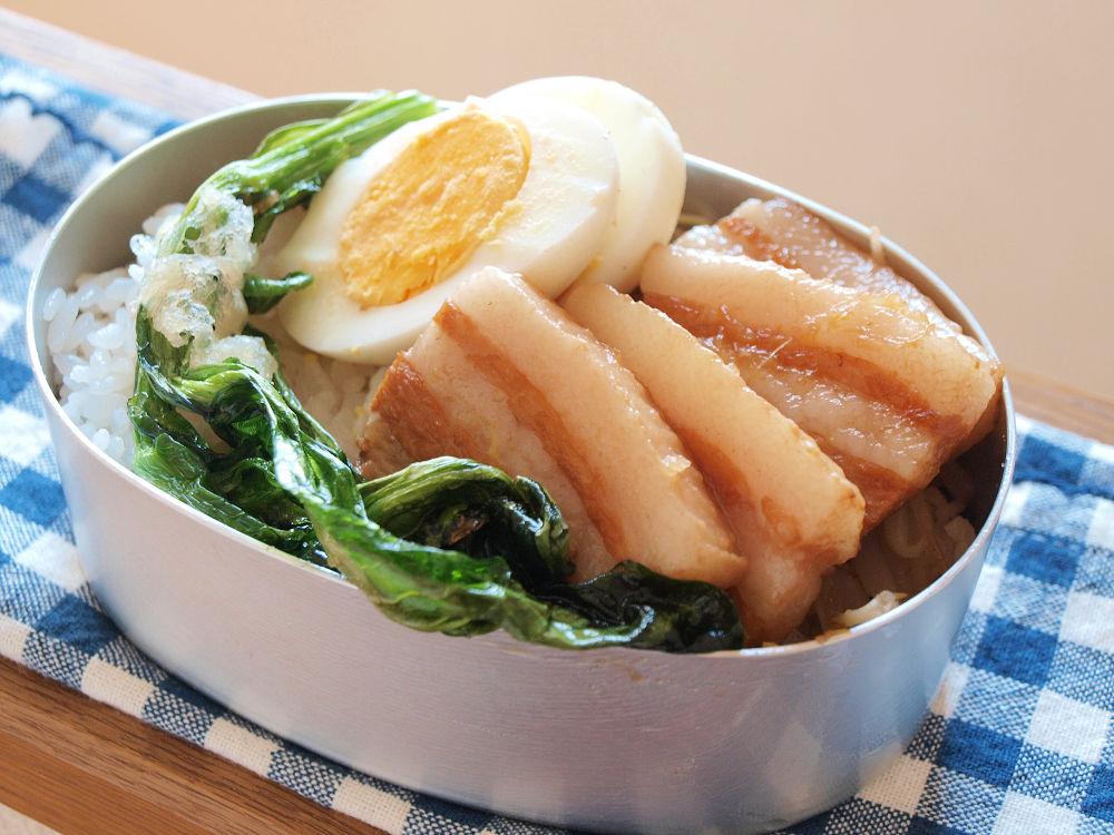 きょうのおべんとう「豚のさっぱり角煮弁当」
