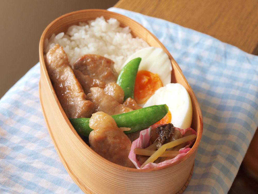 きょうのおべんとう「味噌甘辛豚弁当」
