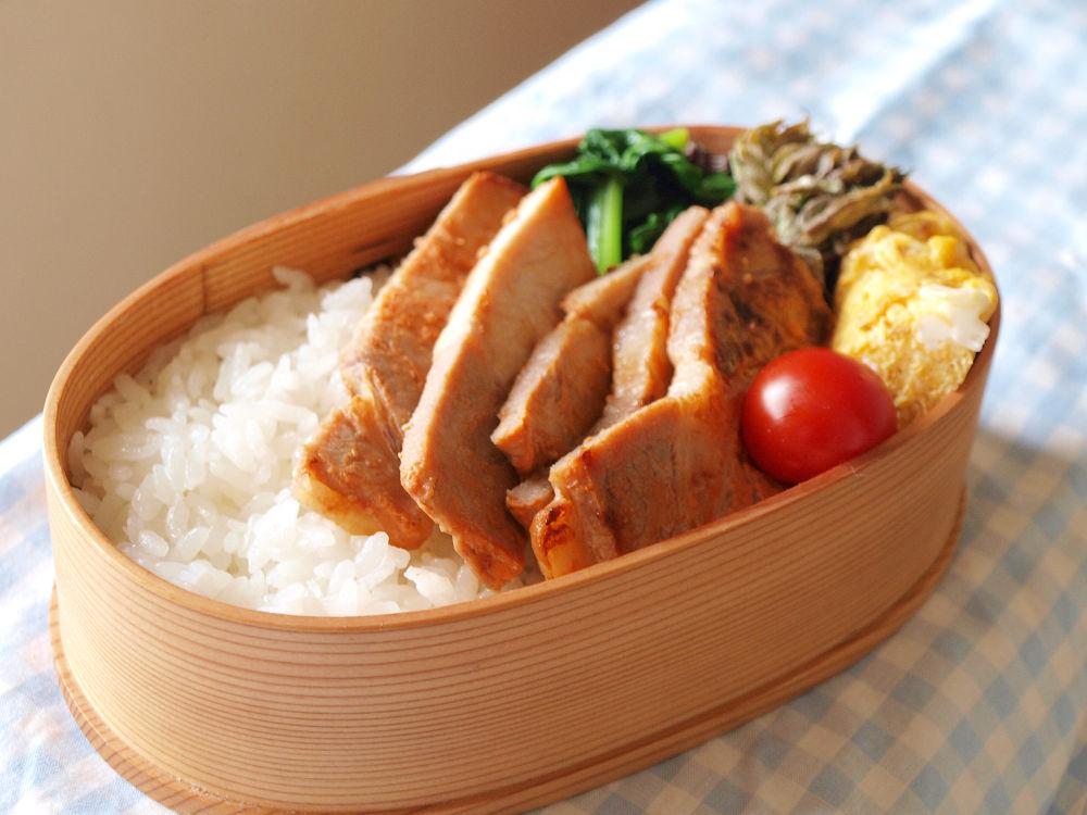 きょうのおべんとう「味噌豚弁当」